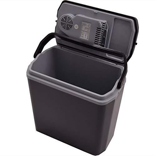Gino Gelati 24 Liter 2 in 1 Mini Kühlschrank Thermoelektrische Kühlbox Warmhaltebox 12 & 220 Volt GG-24L-48W Cooling Box