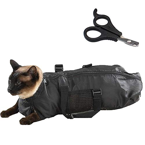 ZIME Cat Grooming Bag  Pet Nail Scissor  Durable and Versatile Bags Designed to Keep Cats Safely Contained During Grooming and/or Bathing