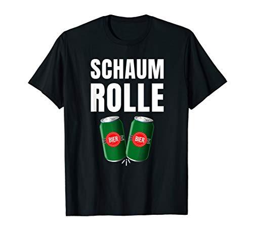 Schaumrolle Bierchen Bier Dosenbier Bierdose Geschenk Saufnn T-Shirt