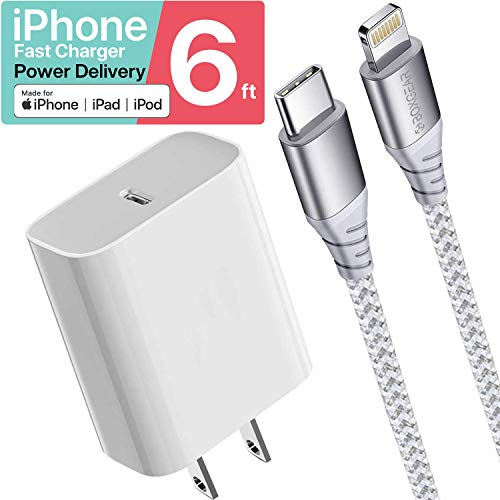 Boxgear iPhone Charger 10 ft MFi Certified Braided Lightning Cable for iPhone 11 ProMaxXXSXRXS Max 8 Plus77 Plus66S6 Plus Charges 50%