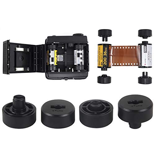 2 Sets 135 35mm to 120 Film Adapter Canister Converter Panorama Like Xpan Camera Film Camera Photography for Pentax, Rolleiflex Mamiya Hasselblad Makina Bronica 120 Medium Format Camera