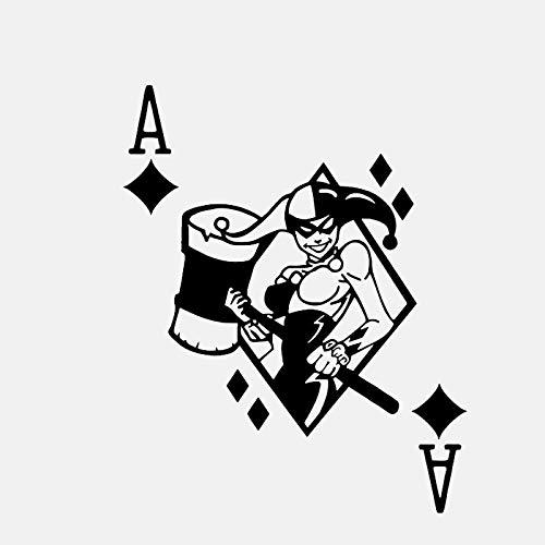 CANGZHOUXIYU Etiqueta engomada del Coche de Polietileno Póker Femeninas Atractivas Decorativos Adhesivos de Vinilo del Coche de Estilo Personalizado de gráficos 13.1 * 16.3cm (Color Name : Silver)