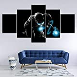 WHYQZ Cuadro sobre Impresión Lienzo 5 Piezas De Arte De Pared Iron Man Vengadores BLU-Ray Cuadro sobre Lienzo 5 Piezas HD Arte De Pared Modulares Sala De Estar Dormitorios DecoracióN
