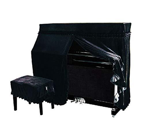 Upright Voll Piano Cover, Color Pleuche Klavier-Tastatur-Cases Staub Eingerichtet Tuch Klavierhocker Stuhl Bank Cover Universal Anti-Kratz-Piano Cloth