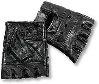 Interstate Leather Men's Basic Fingerless Gloves (Black, X-Small)