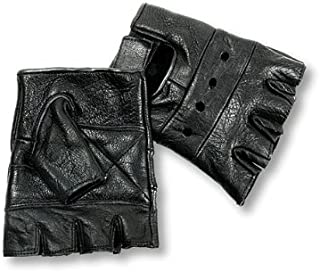 Interstate Leather Men's Basic Fingerless Gloves (Black, Medium)