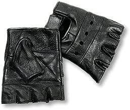 Interstate Leather Men's Basic Fingerless Gloves (Black, XX-Large)