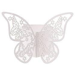 50x Serviettenringe Servietten Ringe für Papierservietten Schmetterling Hochzeit