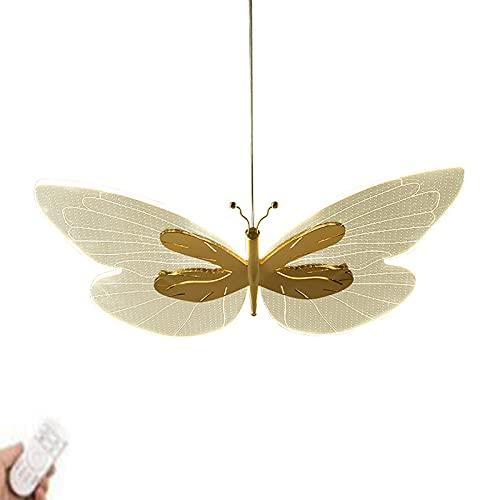 Mariposa Acrílico Lámpara De Araña,Nórdico Todo El Cobre LED Lámpara Colgante,Moderno Sencillo Creativo Lámpara Plafón,Para Restaurante Dormitorio-El cobre no tiene aurora angustiada 24x15inch