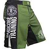 Hardcore Training Fight Shorts Men's Recruit Black - Boxing Shorts - Cage Fight BJJ No-Gi...