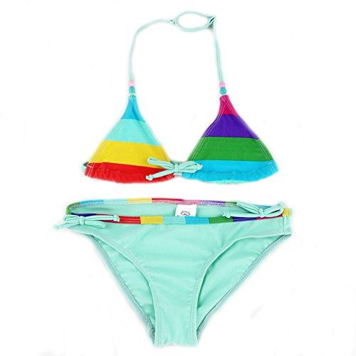 Kidslove [Bikini Mädchen] Bikini Mädchen 2tlg Neckholder Bikini Tankini Set Mädchen Schwimmanzug Kinder Badeanzug Mädchen Bademode