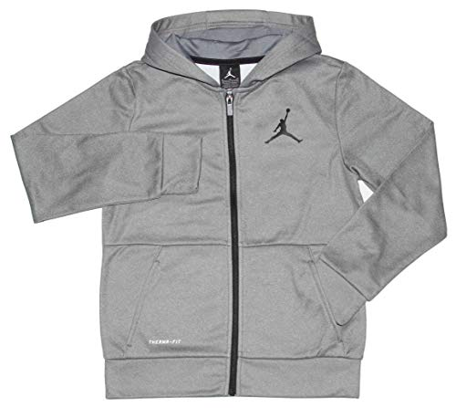 Nike Jungen Therma-Fit Jumpman Hoodie Air Jordan, Jungen, Carbon Heather/Black, Medium