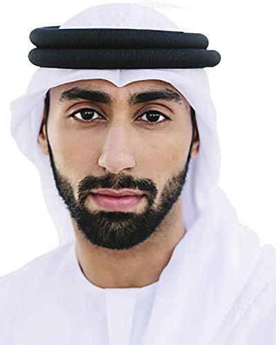HOMELEX Arab Kafiya Keffiyeh Middle Eastern Scarf Wrap with Aqel Rope (White)