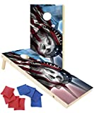 EXERCISE N PLAY 2 x 4 Ft Regulation Size Wood Corn Hole Board Game,...