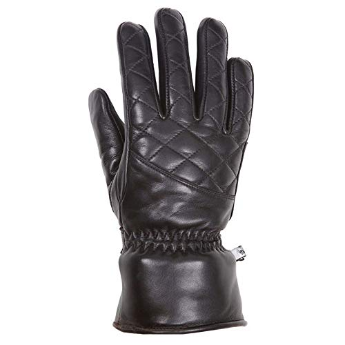 Helstons Caprice Handschuhe, weiches Leder, Schwarz