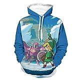 Legend of Zelda Minish - Sudaderas con capucha suave con bolsillo canguro bifurcado para wokers Sporters para fiesta de trabajo, color blanco XL