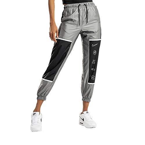 Nike Sportswear Women's Woven Pants CU6395-010 Black/White Black/Black/White L