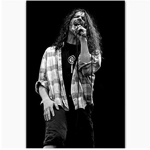 Qqwer Nuevo Chris Cornell Rock Music Singer Star Gift Painting Poster Prints Canvas Wall Picture Para La Decoración De La Habitación Del Hogar -50X70Cmx1Pcs -Sin Marco