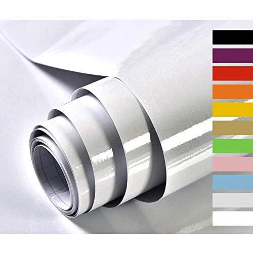 Hode Selbstklebende Folie Schrank bekleben Möbelfolie für Küche Handarbeit Klebefolie Möbel Wasserdicht Vinyl Hochglanz Mit Glitzerpartikel Effekt 40cmX300cm Grau