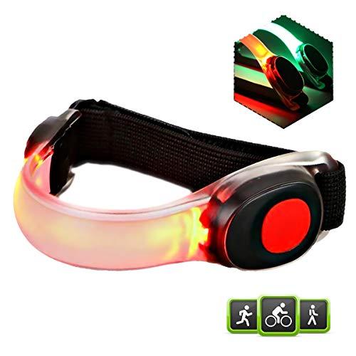 Echelon Line Led-armband, lichtband, loopband, reflectorband, veiligheidslicht voor alle outdoor-sporten, knipperlicht voor joggen, hardlopen, kinderwagen (rood)