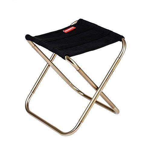 DBCSD Klappstuhl Portable Outdoor Klappstuhl Angeln Kunst Stuhl Erwachsene Mini Ultraleicht Little Mazar Metro Hocker (Farbe: Schwarz)