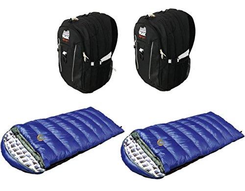One Size HP 450 Blue//black High Peak USA Alpinizmo Vector Combo Set Backpack