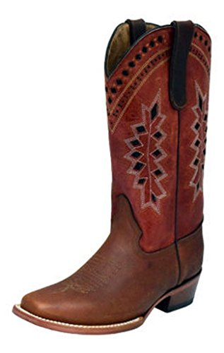 Ferrini USA Ladies Apache Brandy Boot Brandy/10B