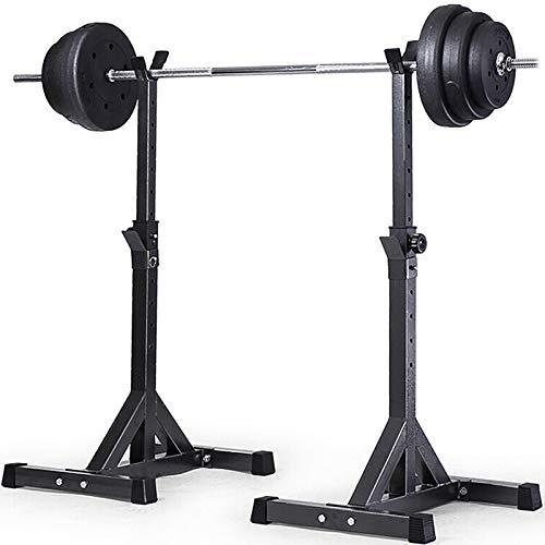 Half-Frame Squat Rack Schwarze Farbe Gewichtheben Squat Rack Split Langhantel Rack höhenverstellbare Heimfitnessgeräte