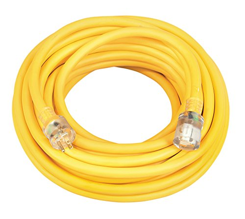 Southwire 02688 10/3 50-Foot Vinyl Outdoor Extension Cord with Lighted End , Yellow , 50 ft - 26888802