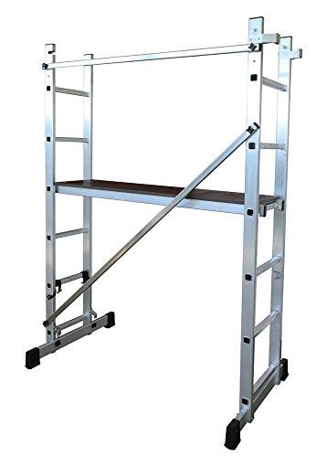 ALTIPESA Escalera - andamio Profesional de Aluminio 2 x 6 peldaños Multiusos