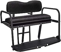 Gusto Yamaha G2 & G9 Gas/Electric Golf Cart Flip Folding Rear Back Seat Kit - Black