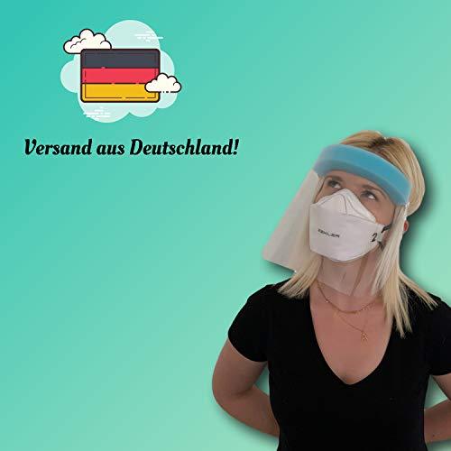 dok protektor® Visier - Gesichtsschutz - aus Kunststoff - Schutz für Augen, Gesicht, Mund, Nase