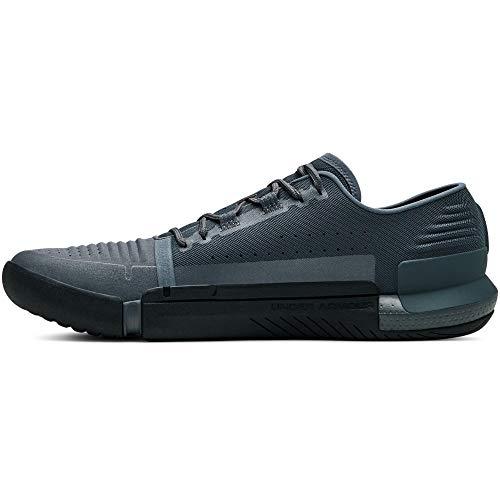 Under Armour Men's Speedform Feel Cross Trainer Sneaker, Pitch Gray (100)/Black, 10
