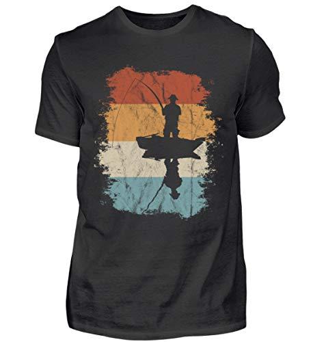 Camiseta para hombre con diseño retro de peces en barco. Negro XXXL
