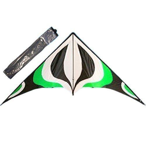 Babyeden 84 Green Sport Stunt Kite Dual-Line X-LARGE 7 FT WING SPAN Prism Delta Outdoor Flying by Babyeden