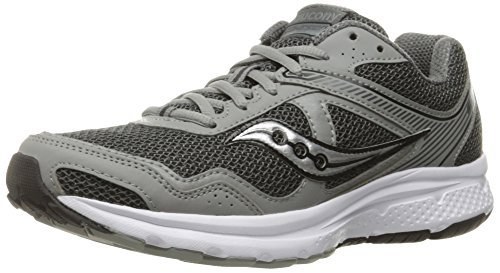 Saucony Men's Cohesion 10 Running Shoe, Grey/Silver, 11.5