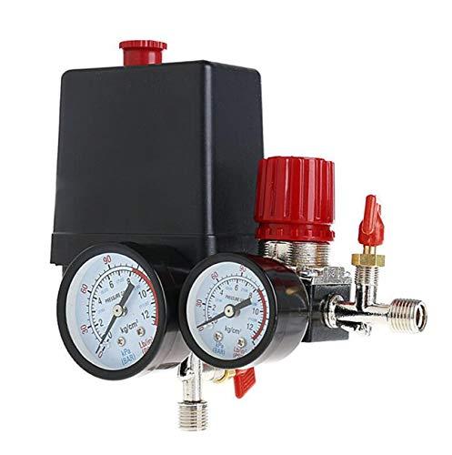 Presostat Compresor de aire válvula de control 90-120PSI + regulador de presión