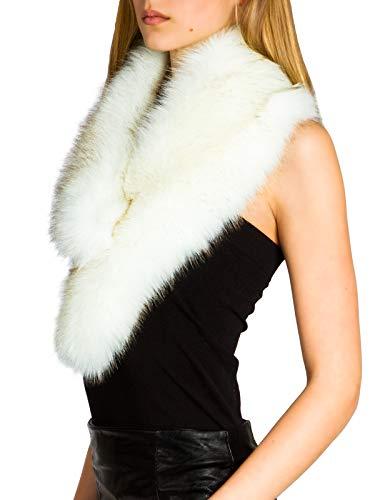 Caspar STO001 Donna Collo di Pelliccia Sintetica, Colore:bianco, Dimensioni:Taglia unica