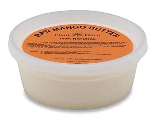 Raw Mango Butter 8 oz 100% Pure Natural For Skin, Face, Hair Care Plant Guru