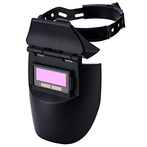 Casco Para Soldar, Solar Power Car Darkening Hood Soldador Máscara Cascos transpirables Casco de Soldadura Automática Para Mig Tig Arc Black