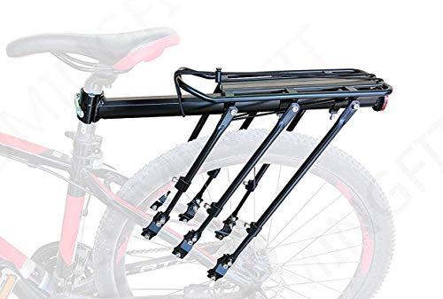 COMINGFIT Capacidad de 180 kg. Equipaje para Bicicletas Ajustable Portaequipajes, Estante para Maletas para Bicicletas súper Fuerte, Porta-Bicicletas con 6 piernas Fuertes