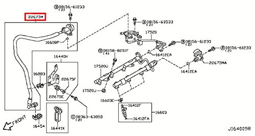 Infiniti 22675-AM60B, Fuel Injection Pressure Damper