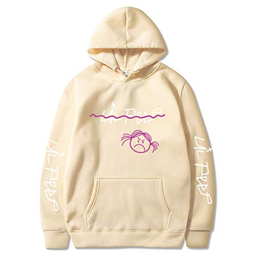 NIGHTMARE Neck Sweatshirt Lil Peep Long Hoodie Niedliche übergroße Damen Langarm Chunky Knit Rippenpullover Pullover Pullover Top XXXL