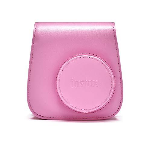 Instax Mini 90 Schutzhülle aus PU-Leder mit Tragegurt , Blush Rose , mini 9