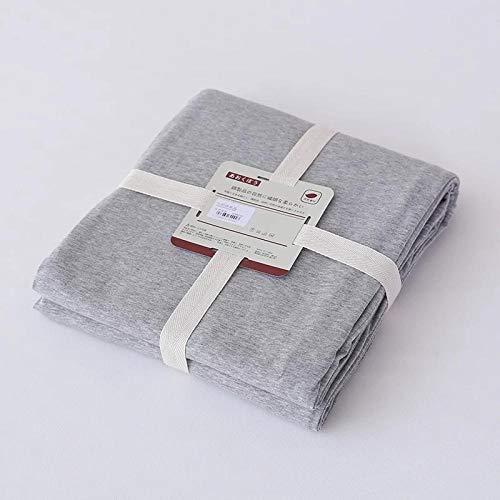 HPPSLT Sábana Ajustable súper Suave, cálida y acogedora Sábana Pure Color Stripes-Pure Grey_180 * 200 + 25cm