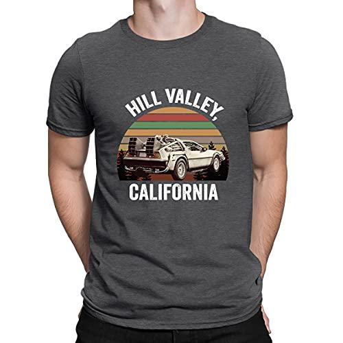 Hill Valley T-shirt humoristique pour homme Motif Retour vers le Future Marty McFly - Gris - L