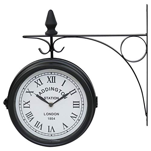 Double Sided Wall Clock Paddington Station Outdoor Vintage For Garden Or Patio