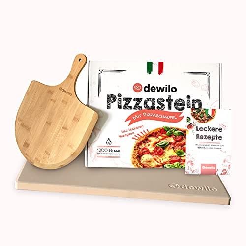dewilo Pizzastein mit Pizzaschaufel für...