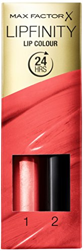 Max Factor Lipfinity Lip Colour Just Bewitching 146 – Kussechter Lippenstift mit 24h Halt ohne auszutrocknen, mit intensiver Farbabgabe, präzisem Applikator & intensiv pflegendem Gloss-Top Coat