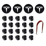 RSZX Tesla Model 3 Y S X Kit copriruota Tappo Centrale Copridado (4 Coprimozzo Centrale + 20 Copridado) Accessori Tesla Bianchi